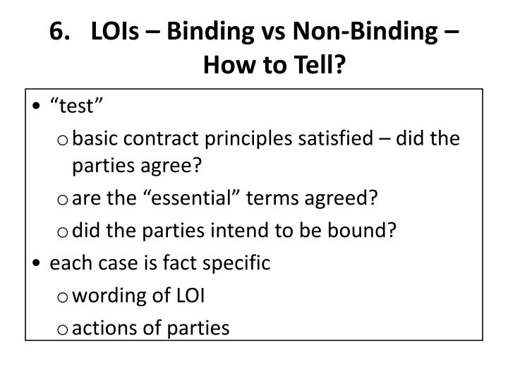 LOIs – Binding vs Non-Binding – How to Tell?