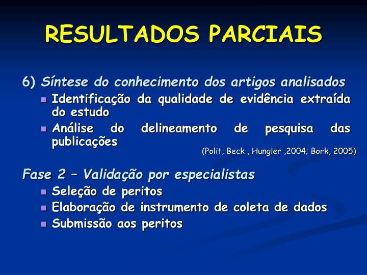 RESULTADOS PARCIAIS