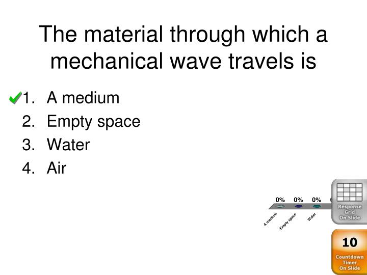 The material through which a mechanical wave travels is