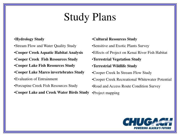 Study Plans