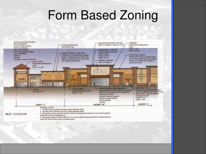 Form Based Zoning