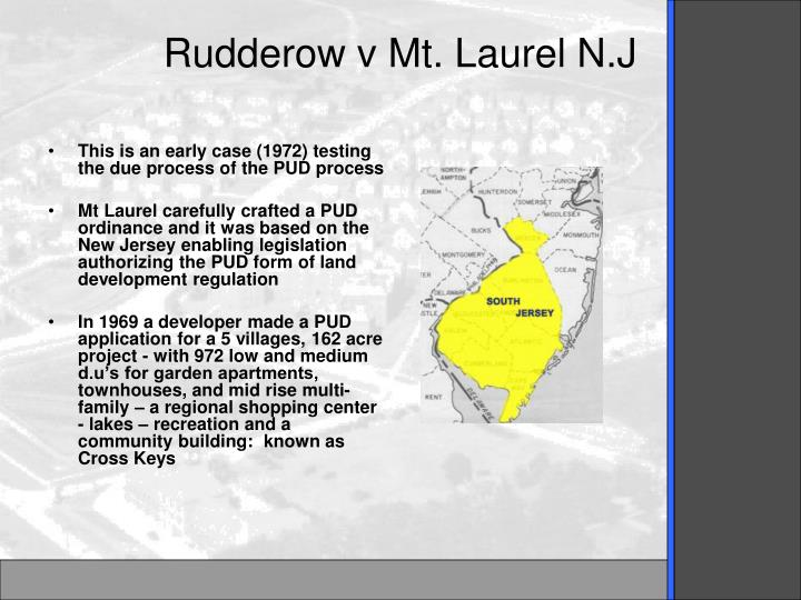 Rudderow v Mt. Laurel N.J