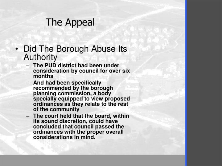 Did The Borough Abuse Its Authority