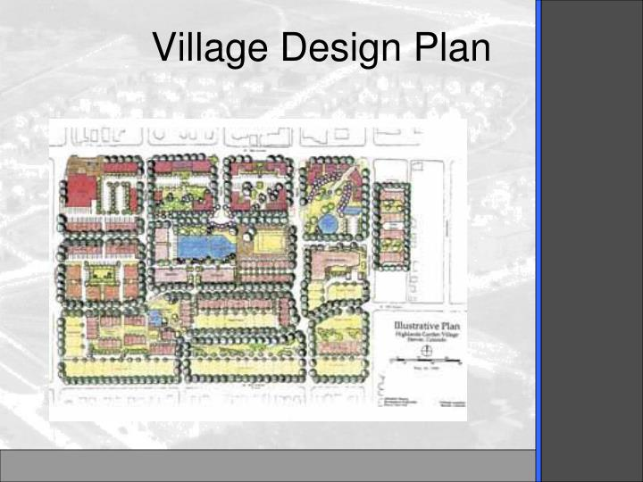 Village Design Plan