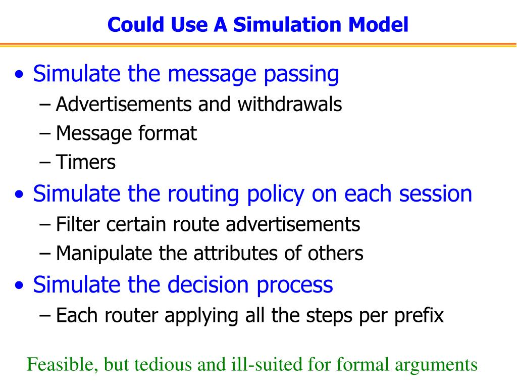 Could Use A Simulation Model