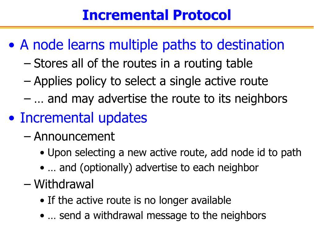 Incremental Protocol