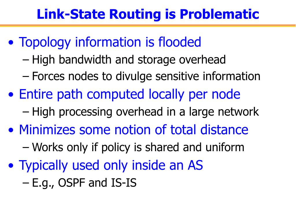Link-State Routing is Problematic
