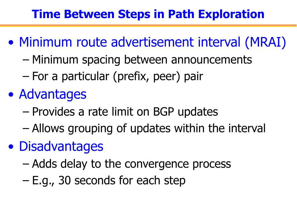 Time Between Steps in Path Exploration