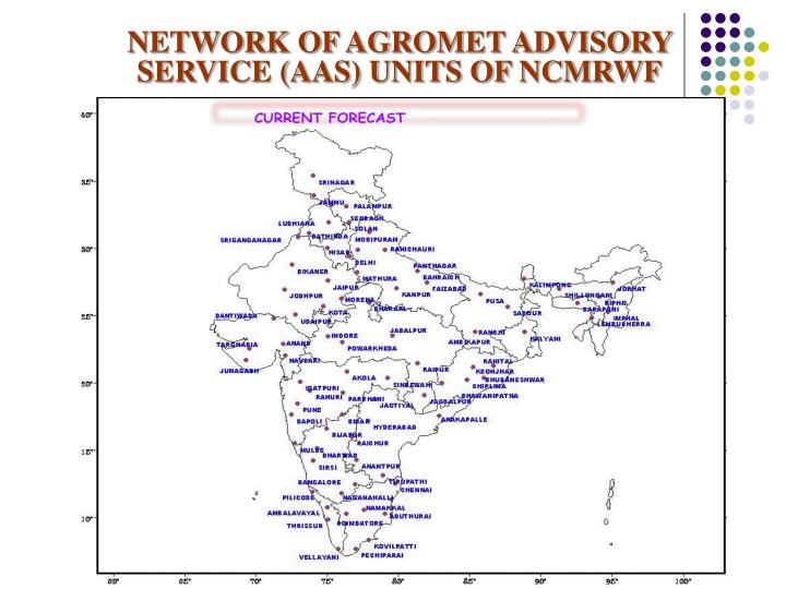 NETWORK OF AGROMET ADVISORY