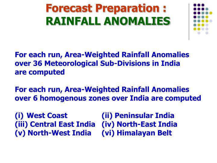 Forecast Preparation :