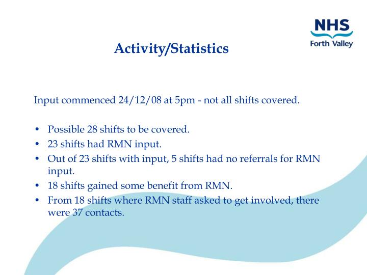 Activity/Statistics