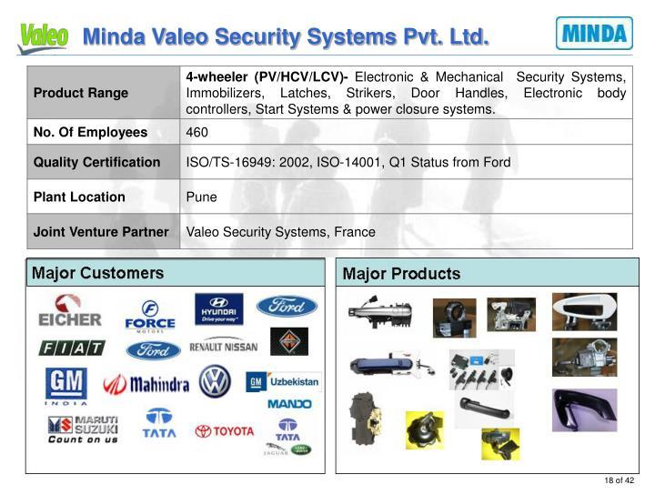Minda Valeo Security Systems Pvt. Ltd.