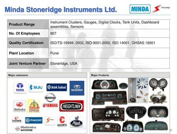Minda Stoneridge Instruments Ltd.