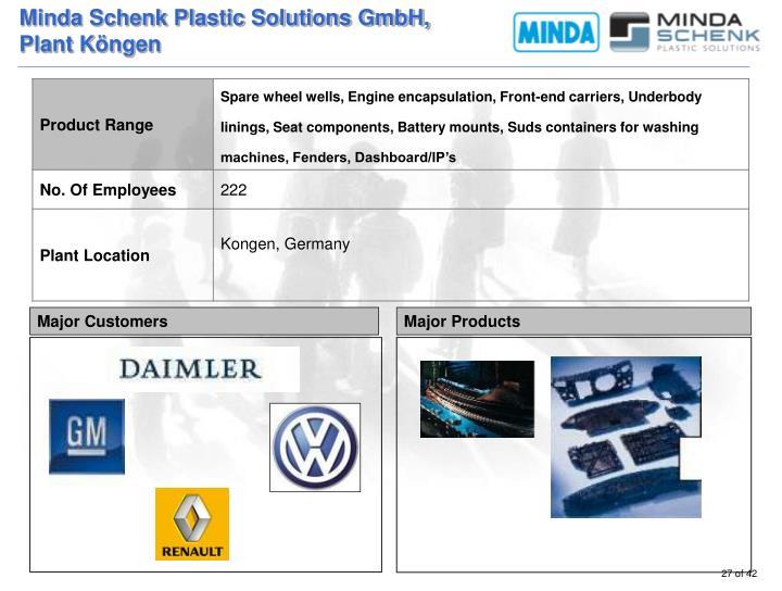Minda Schenk Plastic Solutions GmbH,
