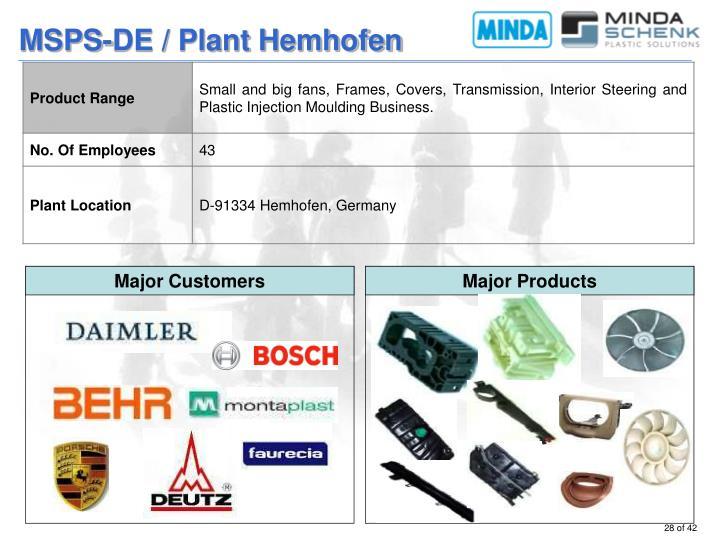 MSPS-DE / Plant Hemhofen