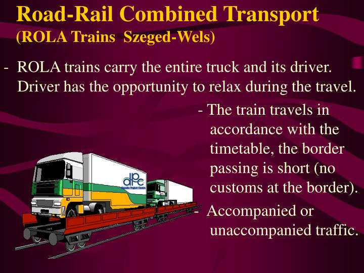 Road-Rail Combined Transport