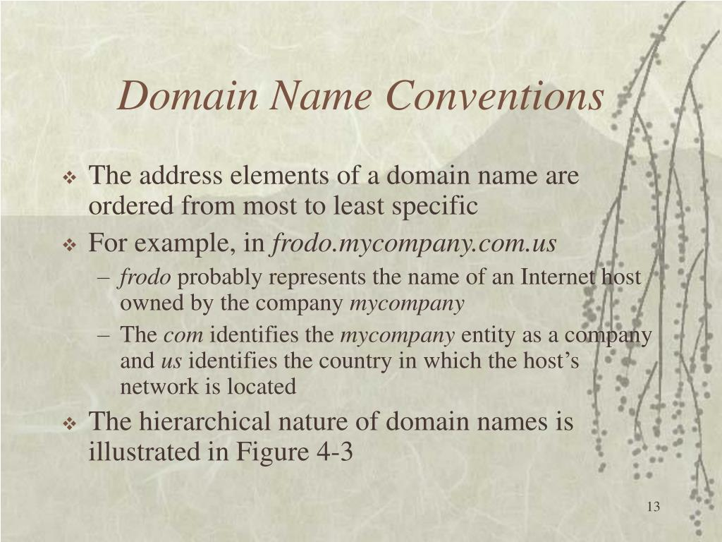 Domain Name Conventions