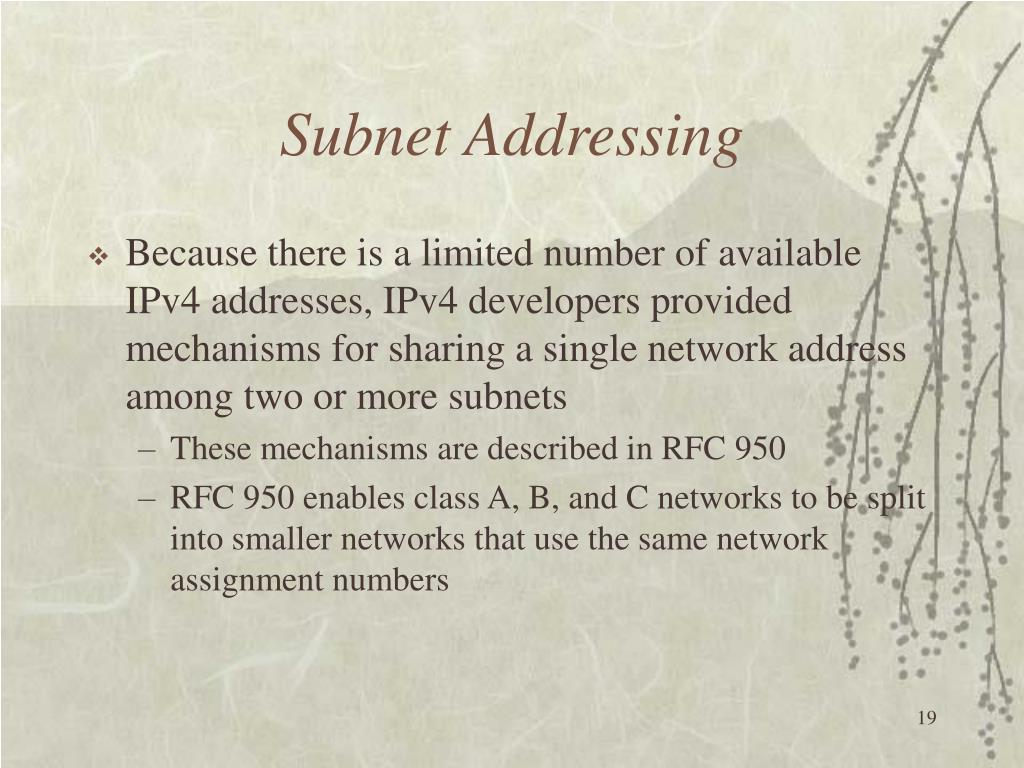 Subnet Addressing