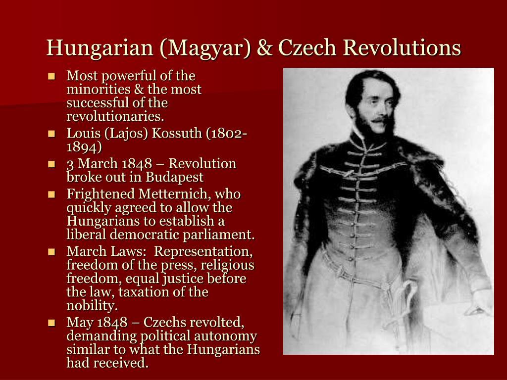 Hungarian (Magyar) & Czech Revolutions
