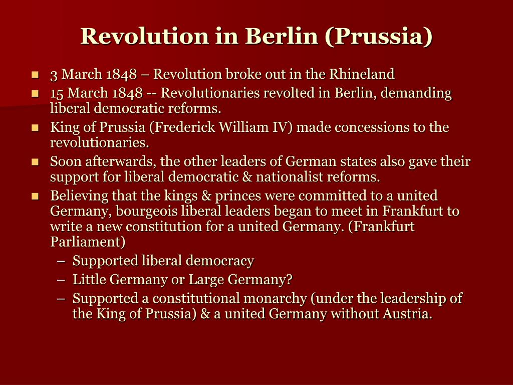 Revolution in Berlin (Prussia)