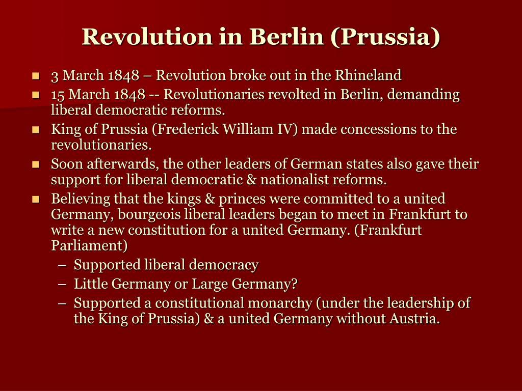 Revolution in Berlin (Prussia)