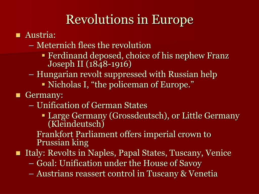 Revolutions in Europe