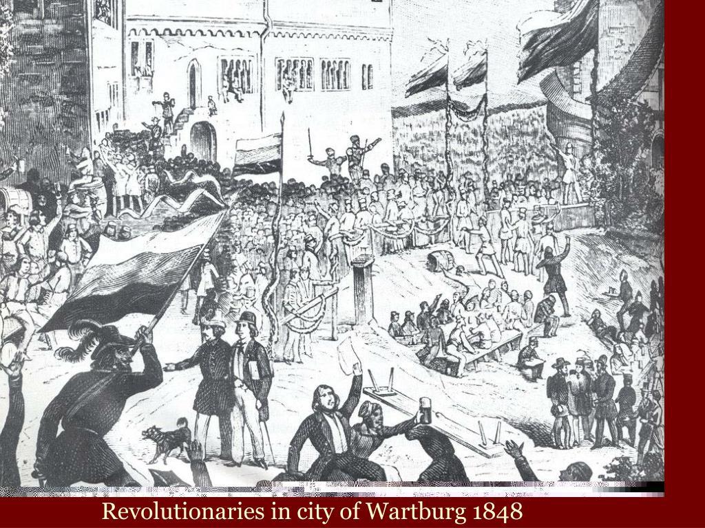 Revolutionaries in city of Wartburg 1848