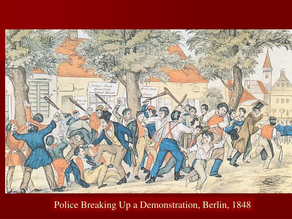 Police Breaking Up a Demonstration, Berlin, 1848