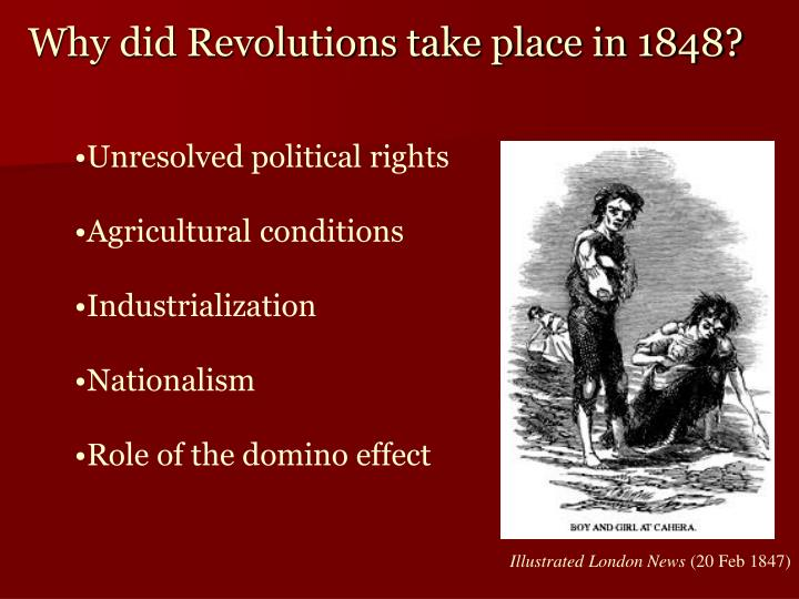 Why did Revolutions take place in 1848?