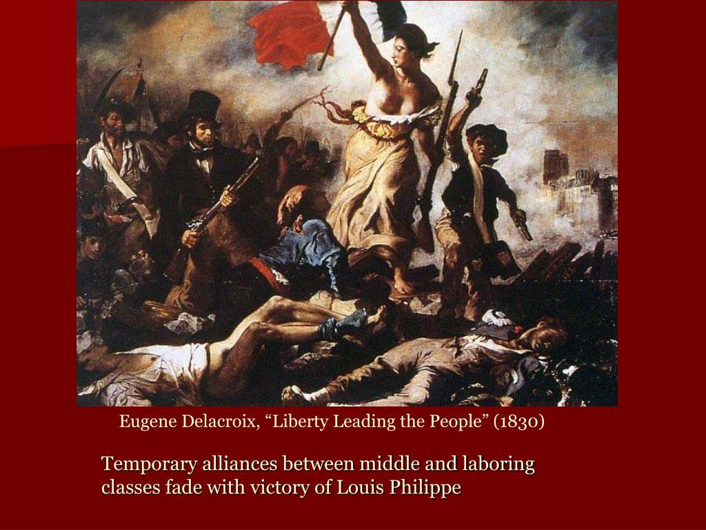 "Eugene Delacroix, ""Liberty Leading the People"" (1830)"