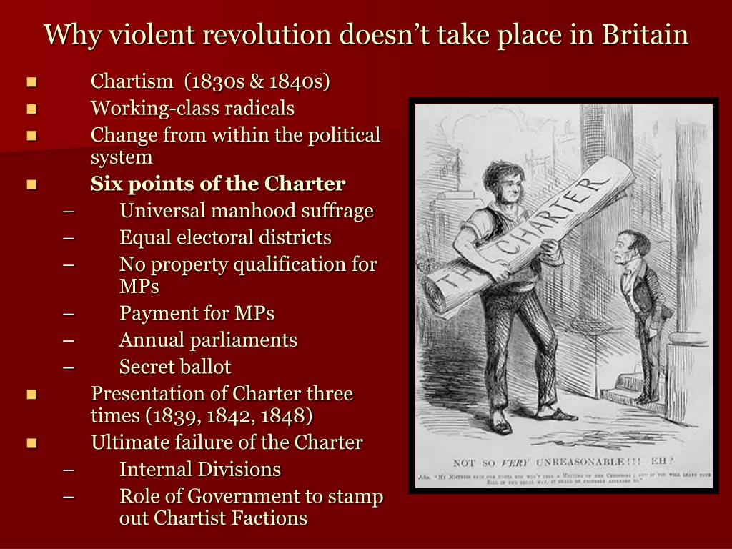 Why violent revolution doesn't take place in Britain