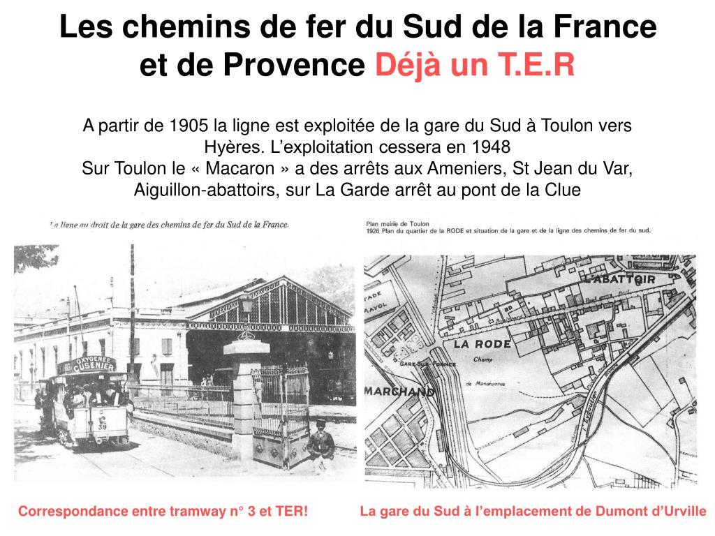 Les chemins de fer du Sud de la France et de Provence