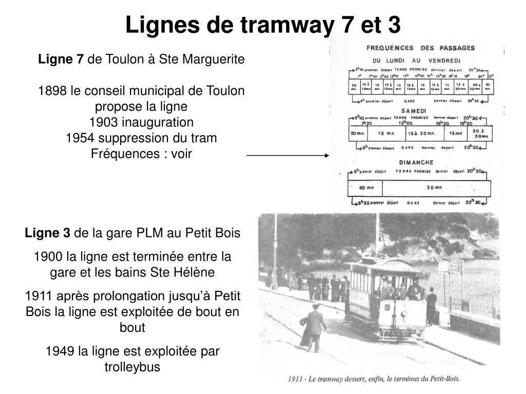 Lignes de tramway 7 et 3
