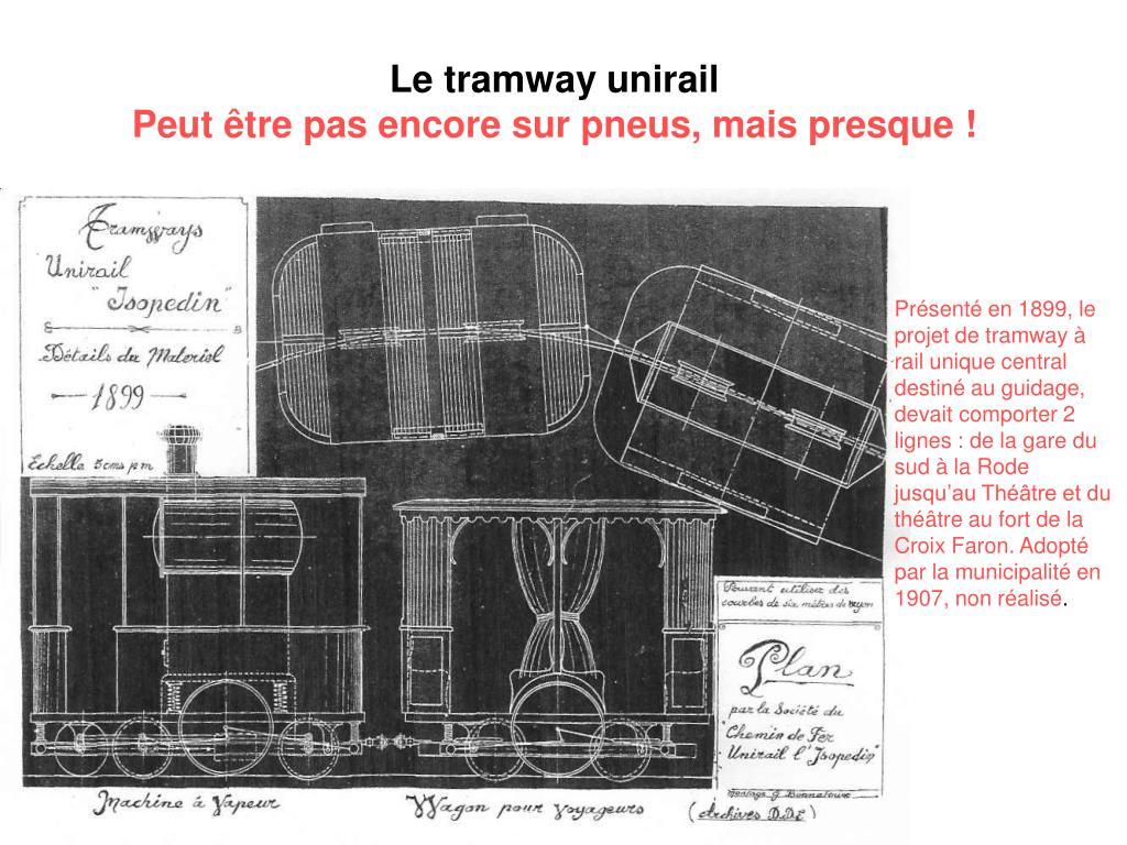 Le tramway unirail