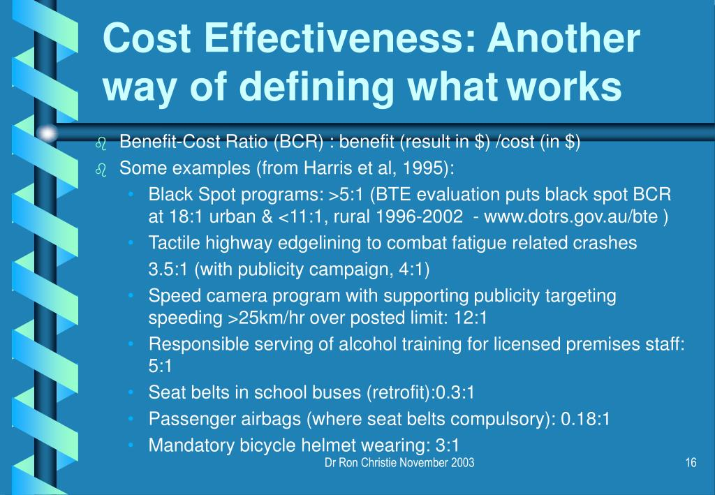 Cost Effectiveness: Another way of defining what