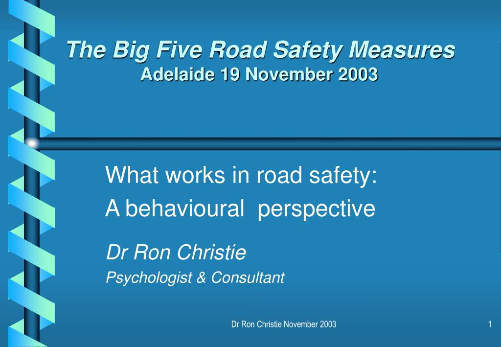 The Big Five Road Safety Measures