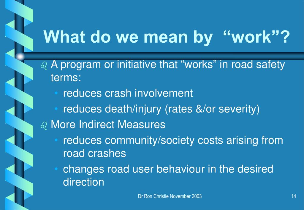 """What do we mean by  """"work""""?"""