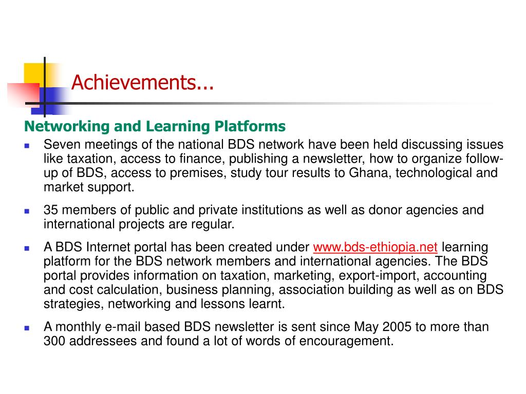 Achievements...
