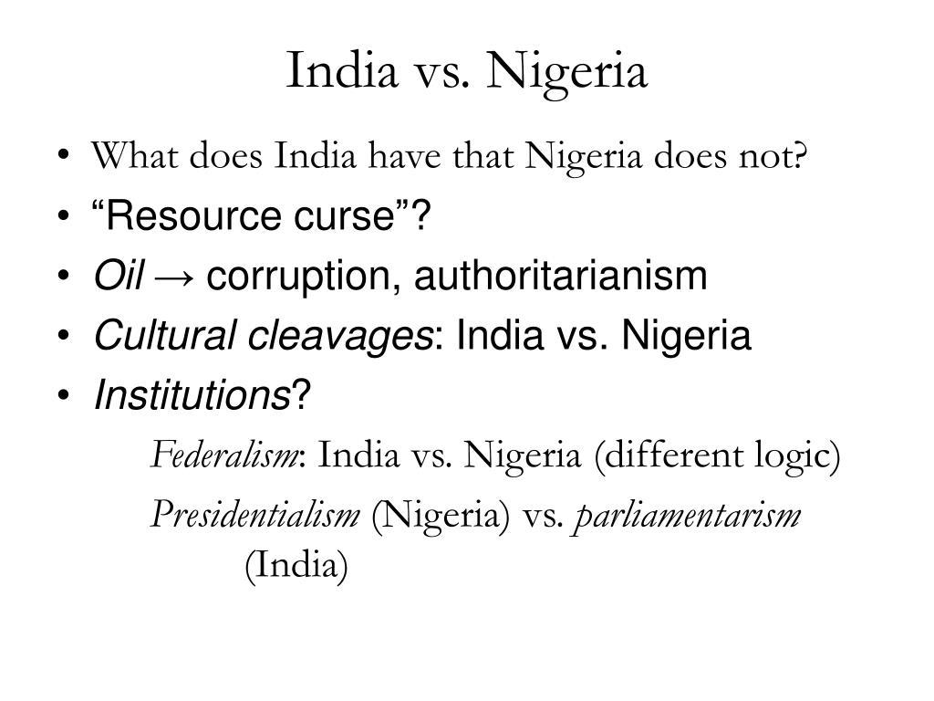 India vs. Nigeria