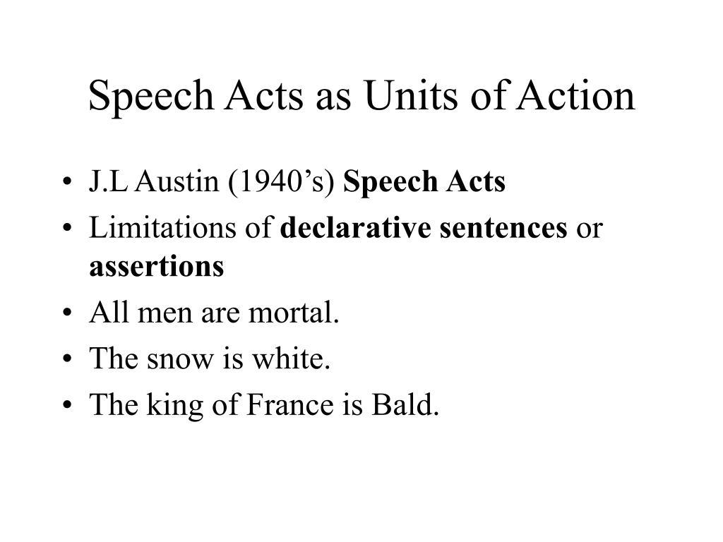 austin speech act theory pdf
