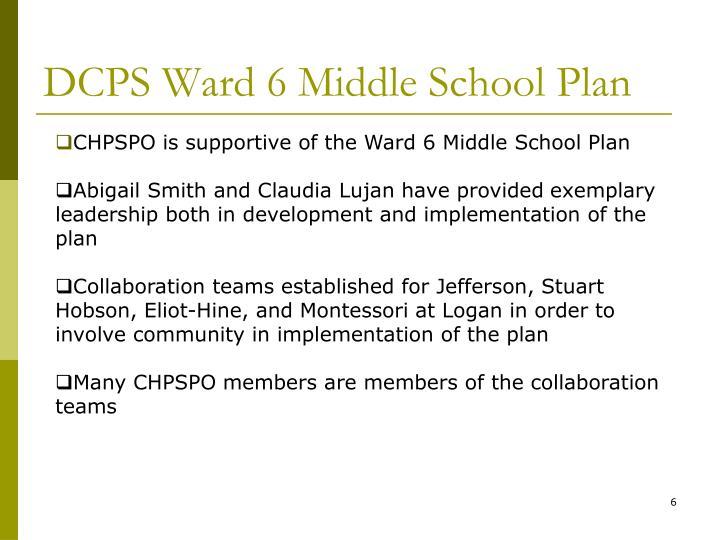 DCPS Ward 6 Middle School Plan