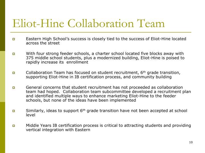 Eliot-Hine Collaboration Team