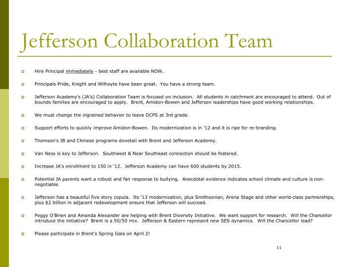 Jefferson Collaboration Team