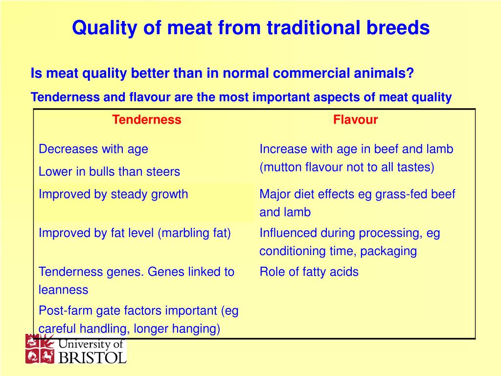Is meat quality better than in normal commercial animals?