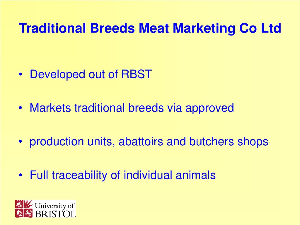 Traditional Breeds Meat Marketing Co Ltd