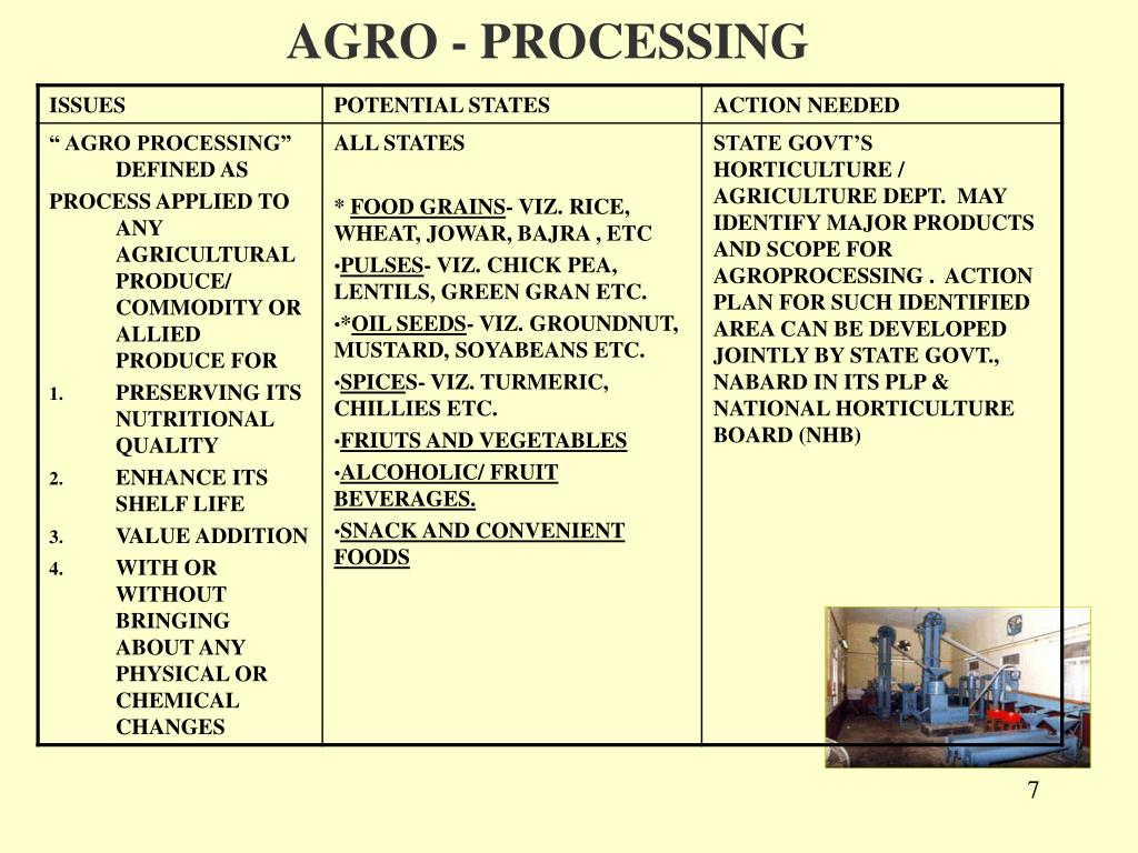 AGRO - PROCESSING