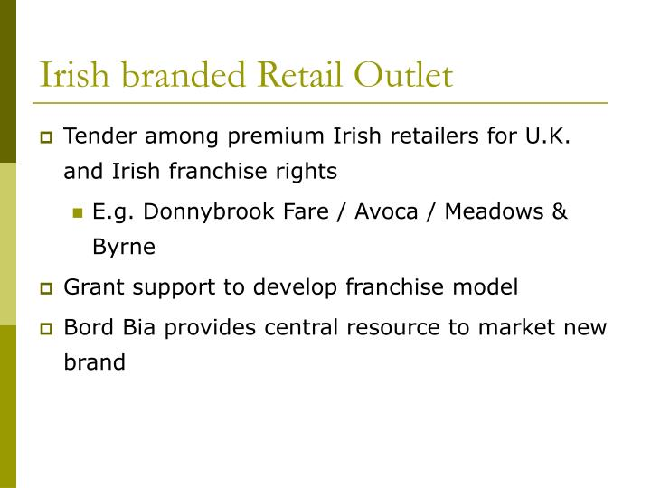 Irish branded Retail Outlet