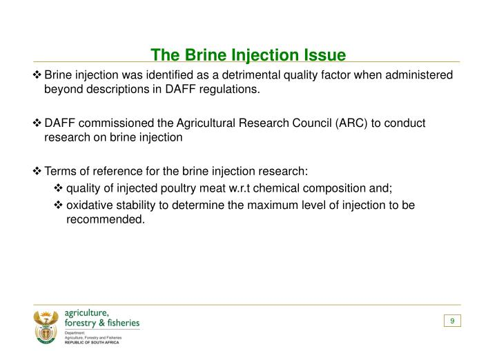 The Brine Injection Issue
