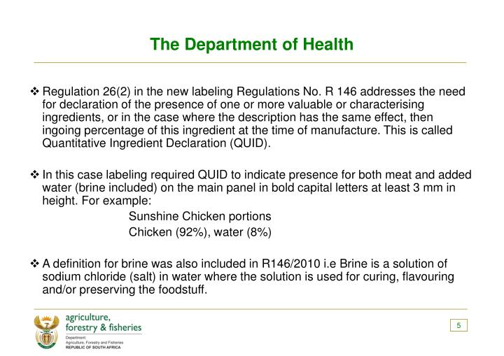 The Department of Health