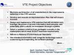 vte project objectives